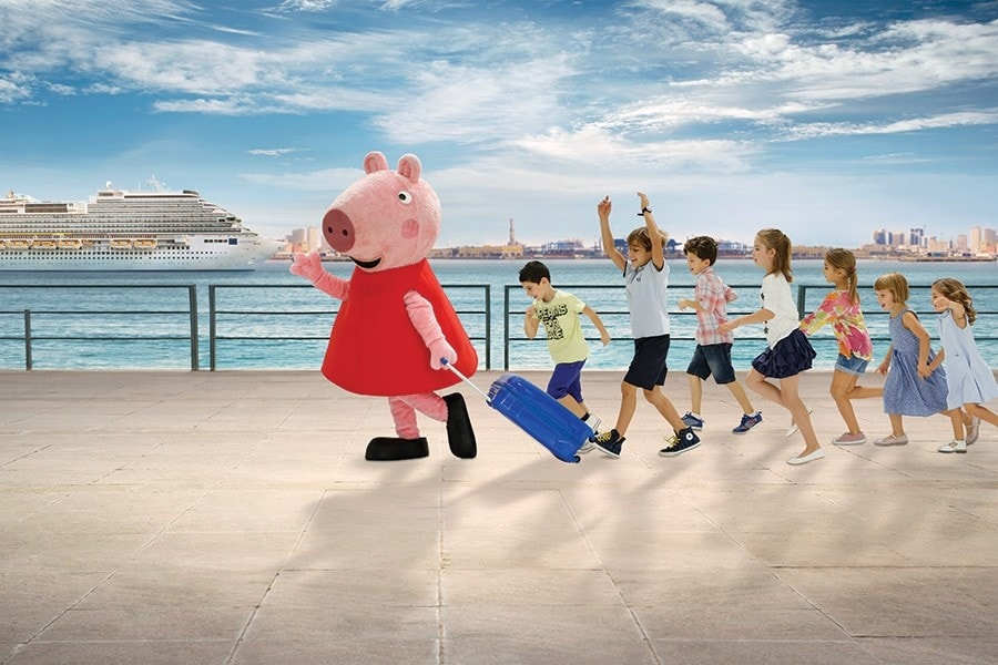 Peppa on ship