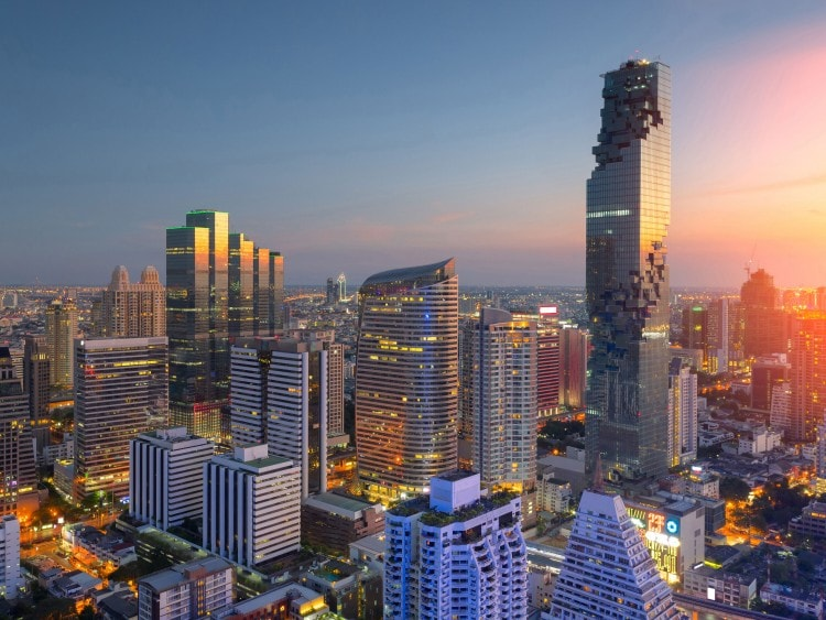 Lo skyline di Bangkok in una crociera Costa