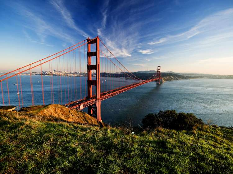 Il golden Gate di San Francisco in una crociera Costa